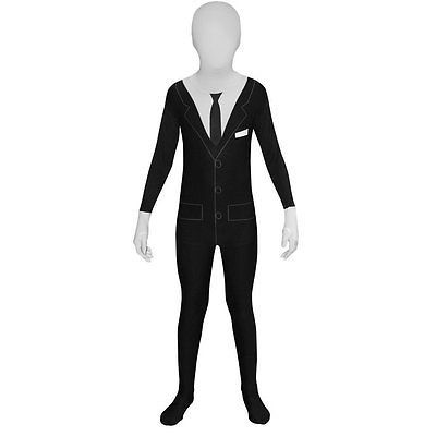 OpenBox Slender Man Kids Morphsuit  Costume - size Medium 311-45 119cm-136cm