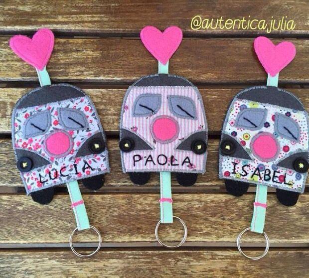 Lucía y sus dos guapetonas hijas ya tienen sus guardallaves a juego.... Guardallaves auto... 10€