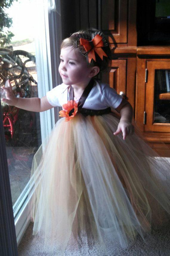 Scarecrow Tutu Dress/Toddler Tutu Costume/ Toddler Scarecrow Halloween Costume on Etsy, $30.00
