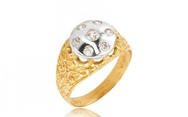 Zlatý dámsky prsteń