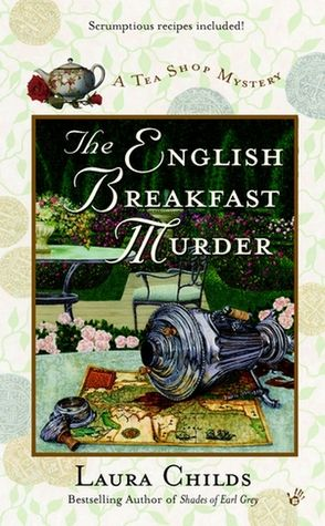 """The English Breakfast Murder"" by Laura Childs.There are 13 books in this cozy mystery series so far which follows Theodosia Browning,owner of Charleston's Indigo Tea Shop,Earl Grey,who is Theodosia's roommate pooch,Drayton Connelly,Theodosia's friend & master tea blender,Haley Parker,friend & pastry chef extrodinaire who just can't seem to pinpoint a college major that suits her,as they serendipitously stumble upon murder after murder.""The first book in the series:""Death By Darjeeling"" Luv…"