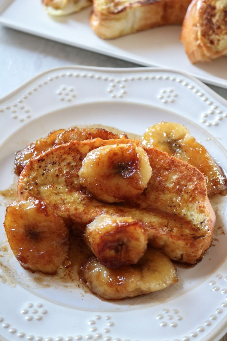 Brioche French Toast with Caramelized Bananas  BANANAS FOSTER FRENCH TOAST