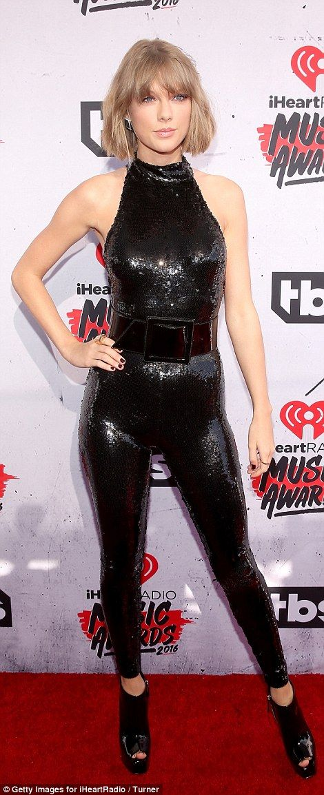 Taylor Swift Flaunts Curves In A Catsuit At The Iheartradio Music Awards 2016 Celebrity Style