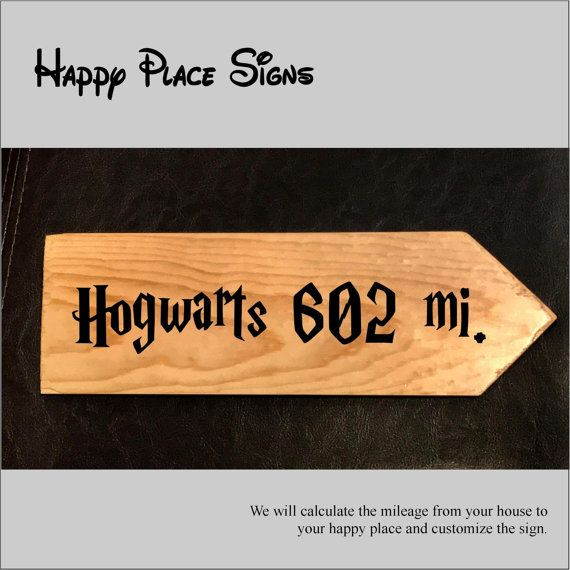 Get a custom sign with the distance from YOUR home to YOUR favorite destination in a font reminiscent of the happiest place on earth.  We will use your home address to calculate the distance to your favorite destination (i.e. Disney World, Disneyland, Castaway Cay etc.) and include that on the sign. Our signs can be right-pointing or left pointing if youre imagining a special location in your home to point to your happy place.