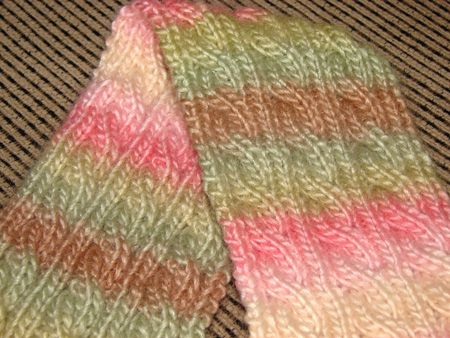 Palindrome-reversible Irish hiking scarf pattern.  For when I get more advanced in my knitting.