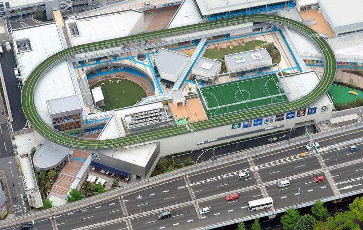 Στη οροφή αυτού του εμπορικού κέντρου στην Οσάκα, υπάρχει ένα ολόκληρο προπονητικό κέντρο (The Asahi Shimbun/Getty Images)