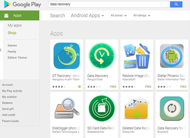 Best Android Data Recovery Software Data Recovery Root Apps Data