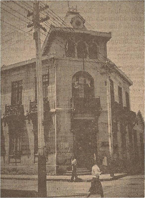"""Casona, donde por muchos años se editó el diario chileno """"El Pacífico"""", y que después de la entrega, fue sede de la mayoría de los diarios que sucesivamente tuvieron vida en Tacna."""