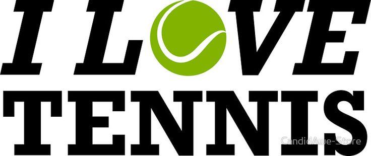 I Love Tennis - WTA Grand Slam Wimbledon Australian Open - Tennis Player Gift by CandidAwe-Store
