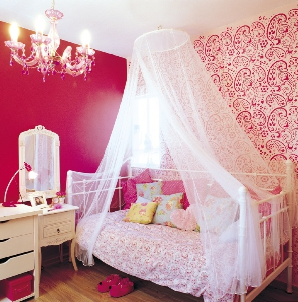 def not in pink but def day bed style & canopy like I had as a little girl. so much fun!