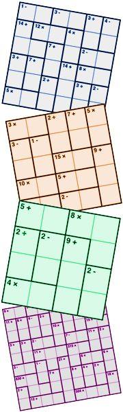 Inky Puzzles (KenKens) by KrazyDad -- free printables