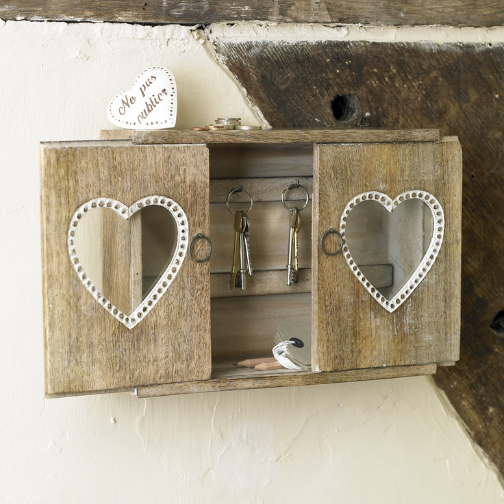 ... Elegant Wooden Key Cabinets With Hooks