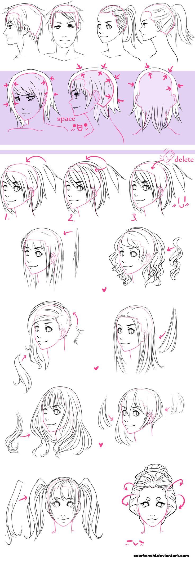 A hair tutorial by CoorTenshi.deviantart.com on @deviantART