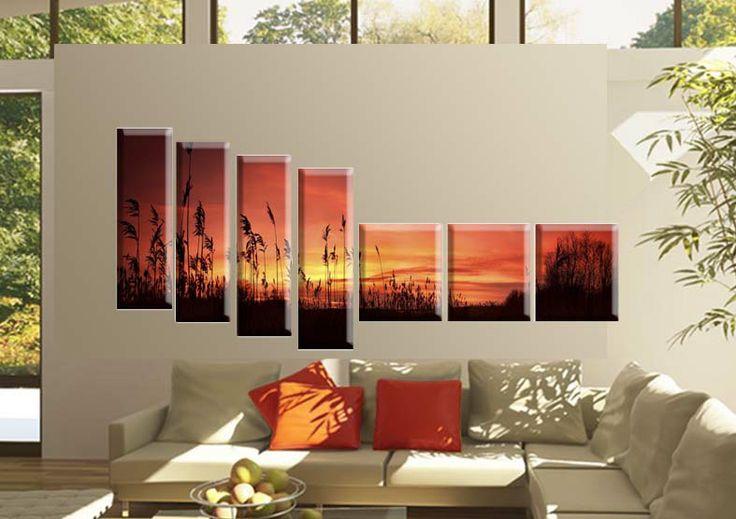 Tablou Landscape 4439 Dimensiune: 3x 30x35 + 4x 20x65 cm Total: 170x80 cm