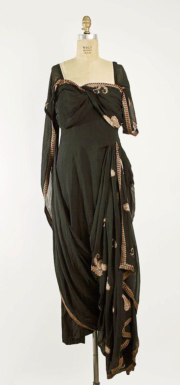 Evening Dress, Evening Gown, Splendid Evening Dress Design, Fashion Designer, Evening Dress Designer, Miracle Gown    Prince Tirtoff, New York  Date: 1935–36 Culture: American Medium: silk, gold