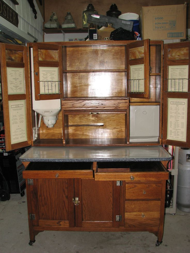 49 best images about hoosier cabinets on pinterest for Restoring old kitchen cabinets