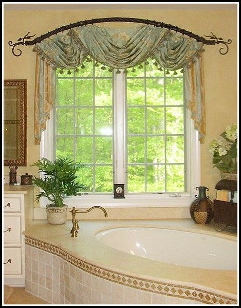 Curved Curtain Rod For Arch Window | Bathroom window ...