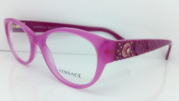 New Versace Eyeglasses Mod 3195 5099 Pink Made In Italy 52MM #VERSACE