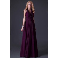 AFFORDABLE collection halter ruffle purple  lace up back  cocktale evening dress !!! for R699.00