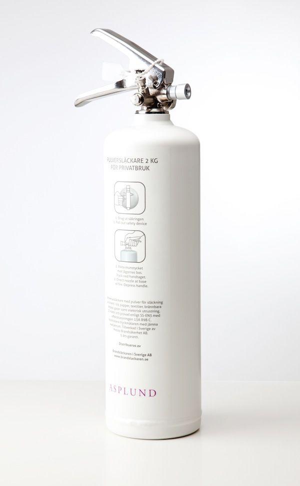 Asplund collaborated with Brandsläckaren.se and developed a very stylish fire extinguisher in matte white