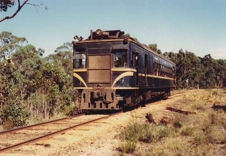"RM 64 on a Rail Tourist Association tour on the up approximately between Smythesdale and Haddon on the ""up"" on Sunday the 15th of February 1981."