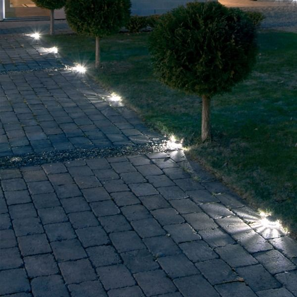 modern driveway lights | Konstsmide Driveway Spotlight Starter Set - 7611-000