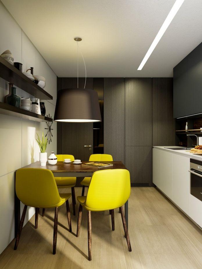 ANTYPRZYKŁAD!!! tak właśnie nie chcę, żeby wyglądała kuchnia, czyli szafki imitujące ściany zamiast mebli i jeszcze jednolita podłoga - nuda
