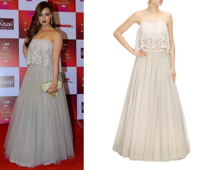 Sana Khan in Payal Singhal #perniaspopupshop #shopnow #celebritycloset #designer #clothing #accessories