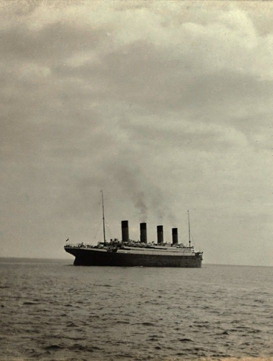 Last photo taken of the RMS Titanic – Sailing away from Queenstown, Ireland.