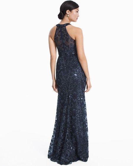 66b2e479966126 Women's Carmen Marc Valvo Halter Beaded Sequin Gown by White House Black  Market