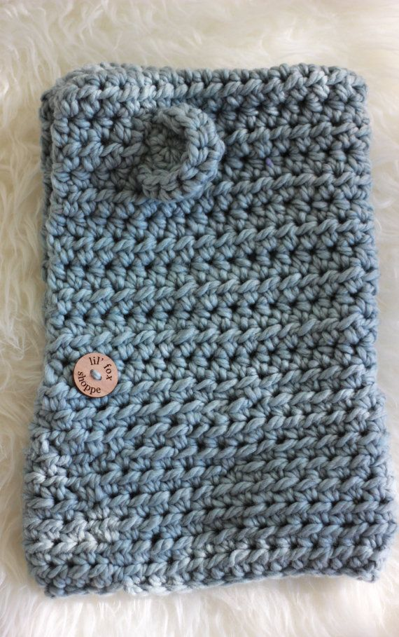 Crochet Hooded Cowl Blue Cowl Bear Cowl Cowl with by lilfoxshoppe