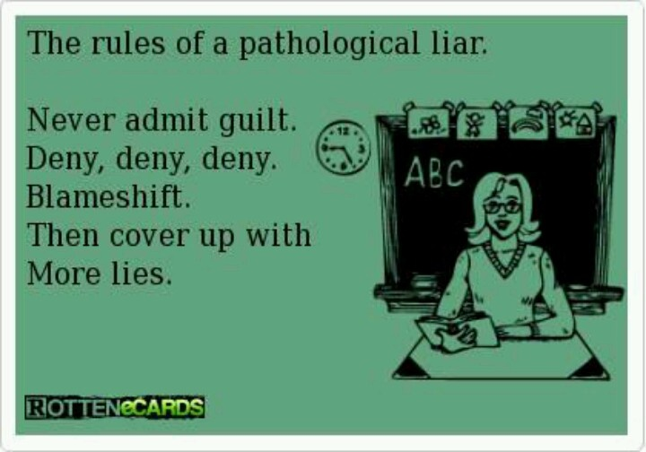 Definition of a habitual liar