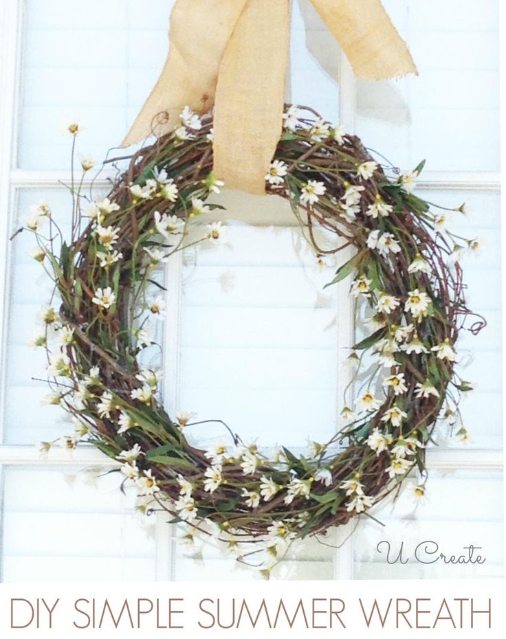172 best images about diy summer wreaths on pinterest for Diy summer wreath