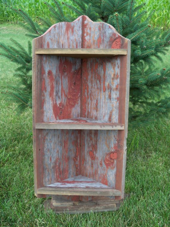 Barnwood Corner shelf