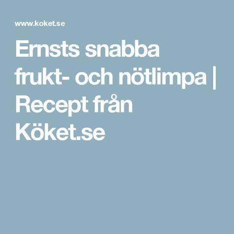 Ernsts snabba frukt- och nötlimpa | Recept från Köket.se