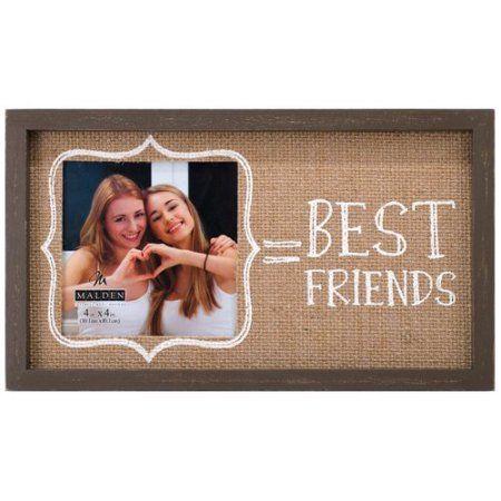 Buy Malden Best Friends Burlap Picture Frame At Walmartcom