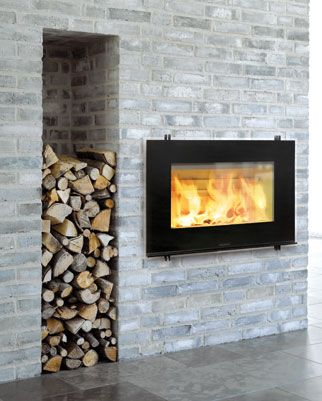 Fireplace with storage - good idea!