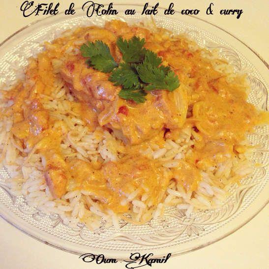 Filet de colin au lait de coco & au curry