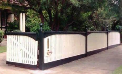 capped picket fence