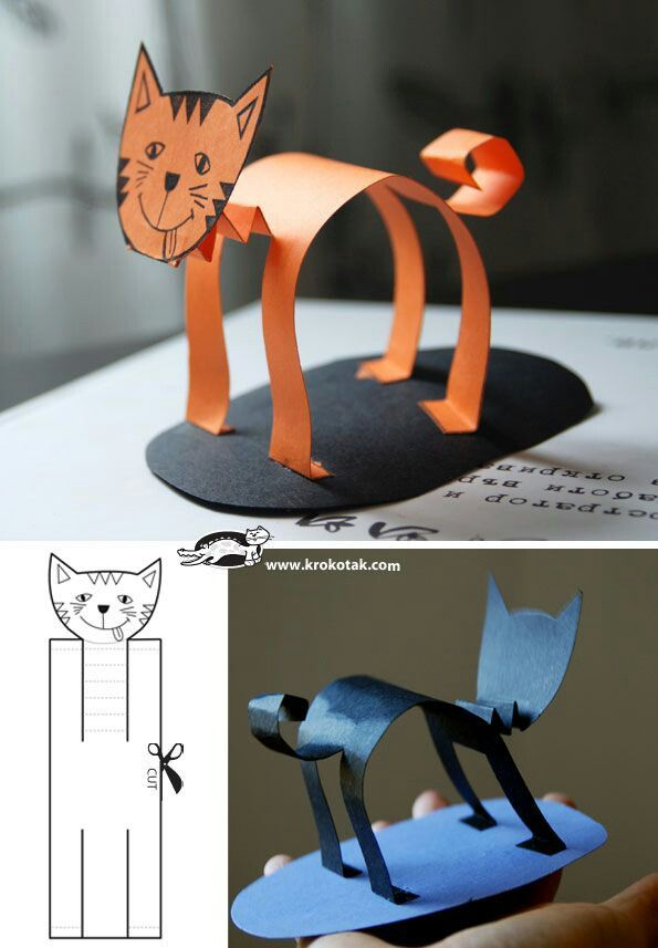 Cute cat craft for Halloween!