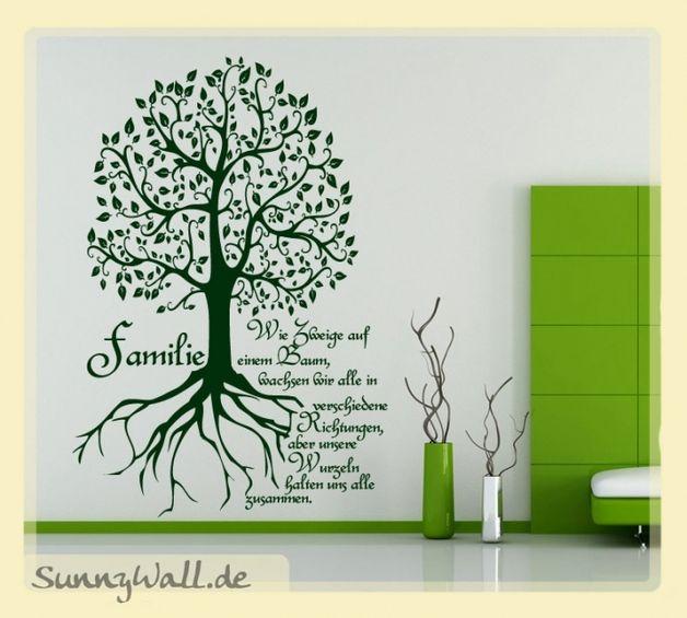Wandtattoo - Wandtattoo Wandaufkleber Family Baum - Zweige Rich - ein Designerstück von sunnywall_de bei DaWanda