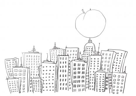 James and the Giant Peach in New York coloring page   Super Coloring