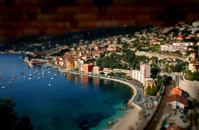 Nice, FrancePhotos, Miniatures, Nice France, The View, Food Photography, Places, Tiltshift, French Riviera, Tilt Shift
