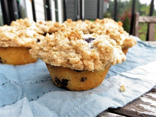 Bakery-Style Blueberry Crumb Muffins