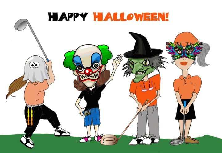 Image result for halloween golfers