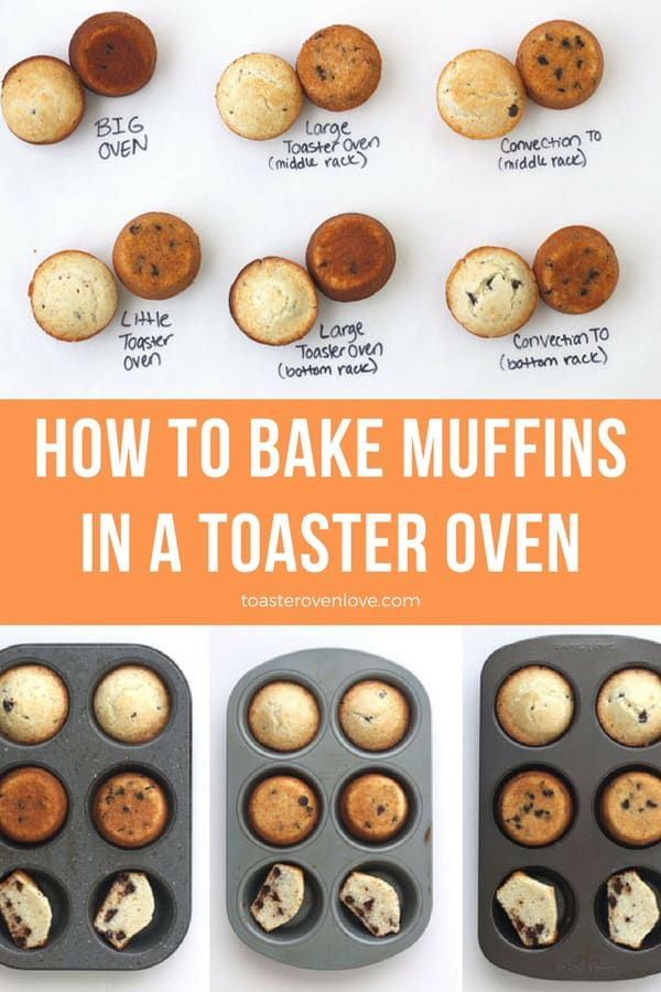 How To Bake Muffins In A Toaster Oven Convection Oven Recipes Toaster Oven Recipes Baking Muffins