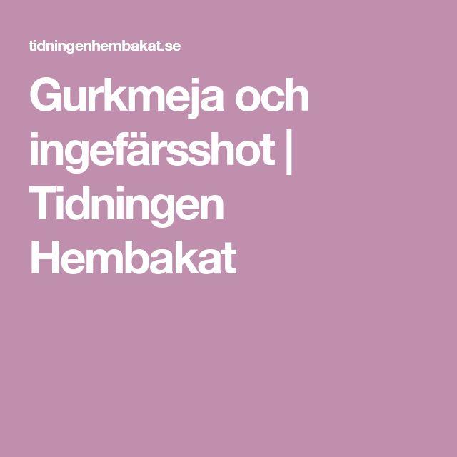 Gurkmeja och ingefärsshot | Tidningen Hembakat