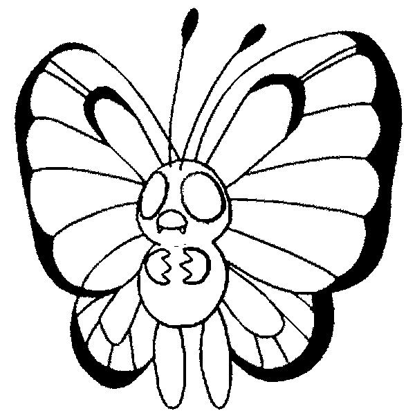 Pokemon Coloring Page To Print Out And Color Picture Butterfree