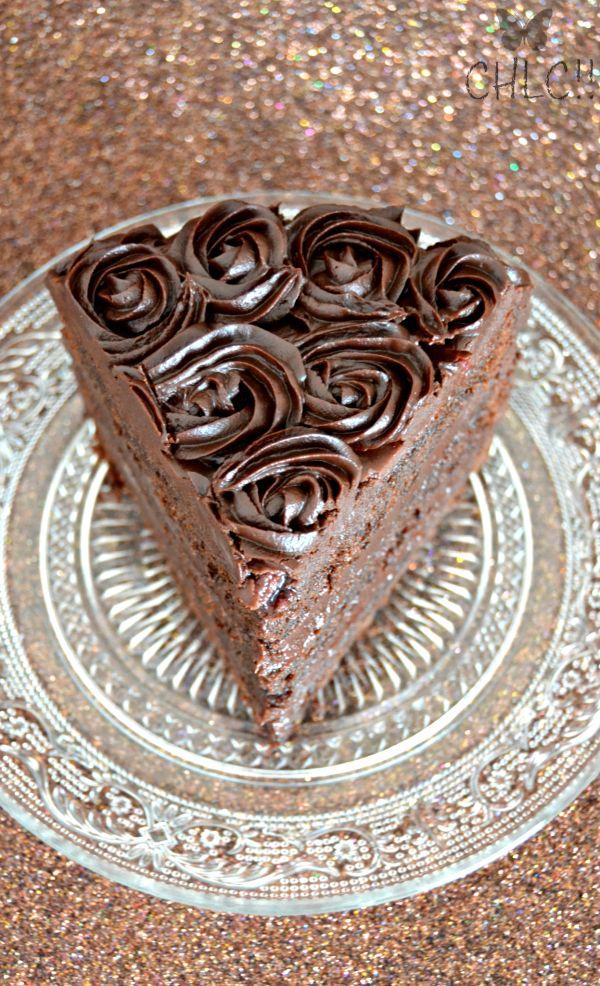 Tarta de chocolate con mermelada de frambuesas | chocolate rose cake