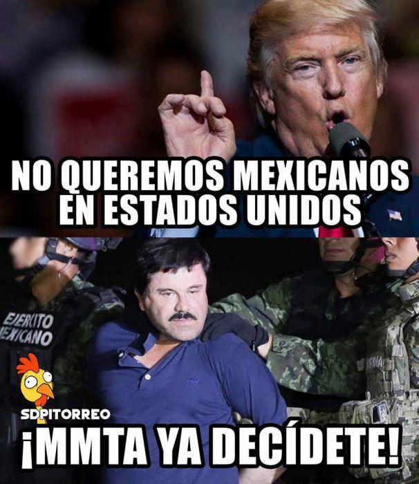 ¿No que Trump no quería mexicanos de ese lado de la frontera?